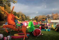 Build of Magical Lantern Festival 2017 @ Chiswick House