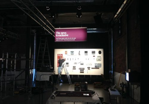 Times Newseum Exhibtion at The Painworks in Bristol