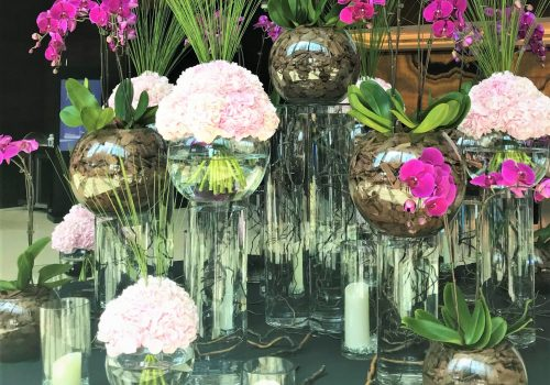 Purple Orchid Floral Display
