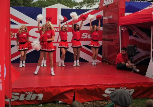 The Sun Cheerleaders at The Olympics in Hyde Park