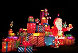 Father Christmas and Presents @ The Magical Lantern Festival 2017