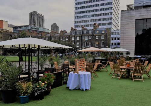 Set up for Summer Party at The HAC