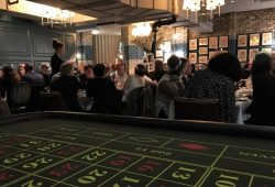Casino Tables at Client Christmas Party