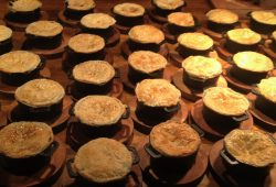 Individual Steal and Ale Pies for Client Christmas Party
