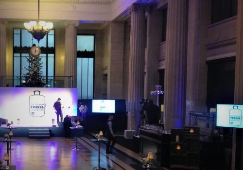 Set up for The Telegraph Travel Awards