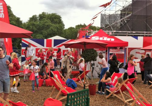 The Sun at The Olympics in Hyde Park