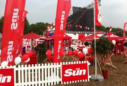 The Sun at The London Olympics in Hyde Park